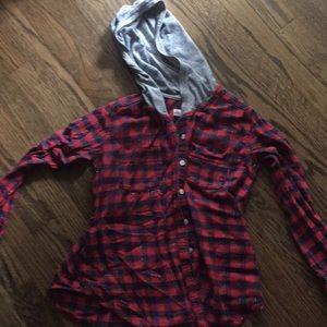 Abercrombie flannel hoodie